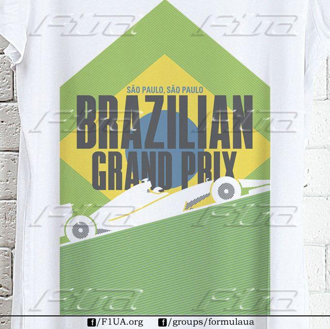 """""""Бразилия"""". Доступны все размеры футболок. Есть мужские, женские, детские модели. Заказы принимаем на страницах F1UA, Highway и в группе formulaua."""