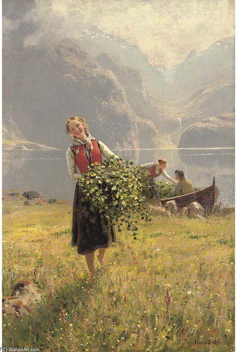 Sommerdagved En Norsk Fjord de Hans Dahl (1849-1937, Norway)