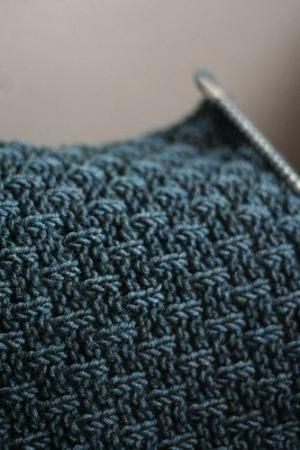 I love this knit stitch. Cast on multiples of 4. Knit all right side (odd) rows. Row 2 and 4: p1k3 across. Row 6 and 8: k2, *p1k3 across to end, end with p1k1. Repeat 8 rows for pattern. Or for Row 6 and 8, start with a k1 and end with p1k2 by Moniboo