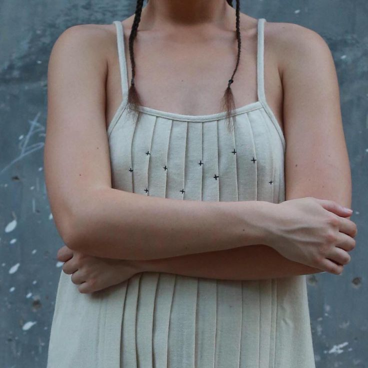 The recycled wool Pleated slip dress now available online. Only precious 6 in stock!!