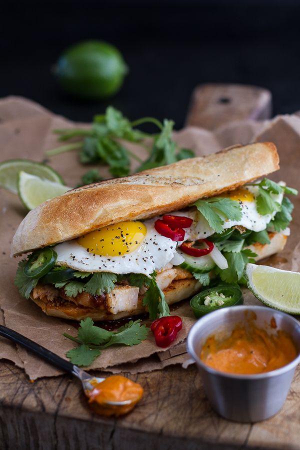 Mahi Mahi Banh Mi with Spicy Curried Mayo + Fried Eggs