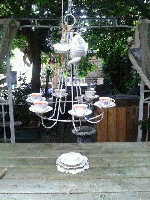 Met zelfgemaakte kaarsen.idee van pinterest gemaakt door annelies