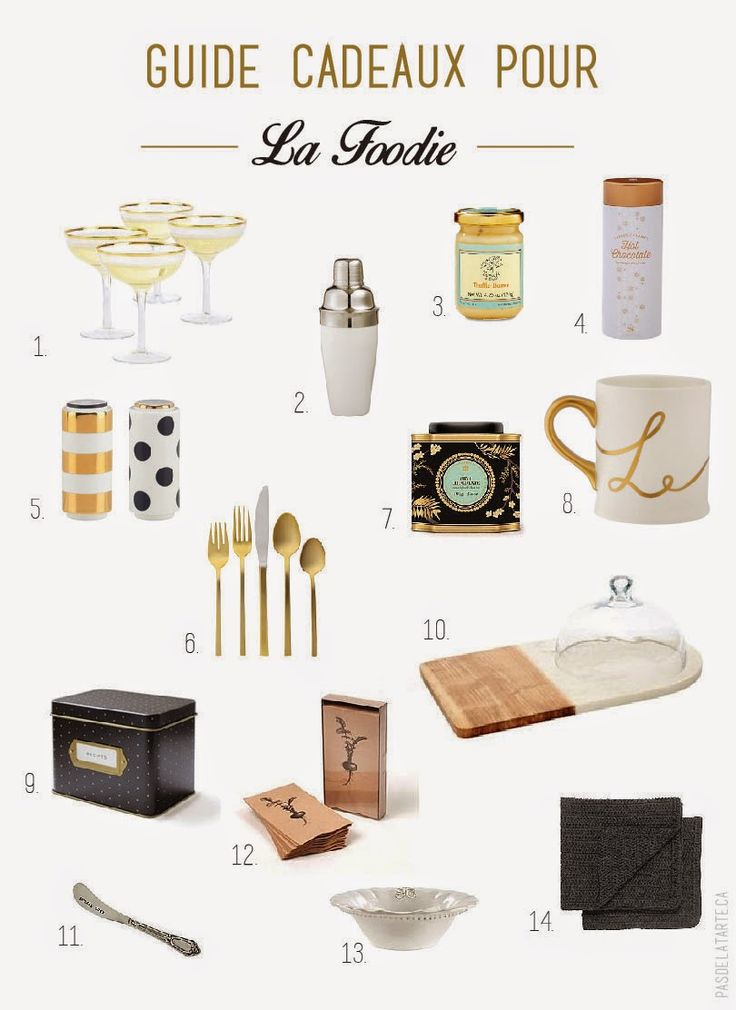 Holiday Gift Guide for the girly foodie | Guide cadeaux 2014 pour La foodie | pasdelatarte.ca