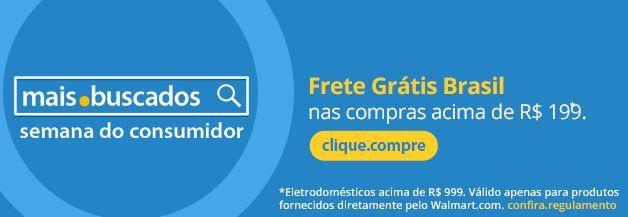 Aproveite para comprar acima de R$199 e obter frete grátis na maioria dos produtos do site do Walmart na semana do Consumidor Brasil.