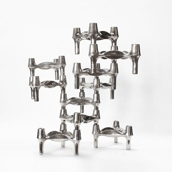 10 Sculptural Candle Holders by BMF Germany by PastPresentHome, $225.00