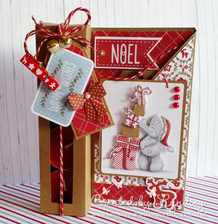 Me to You Christmas Tealight Box Card by design team member Lyndsey