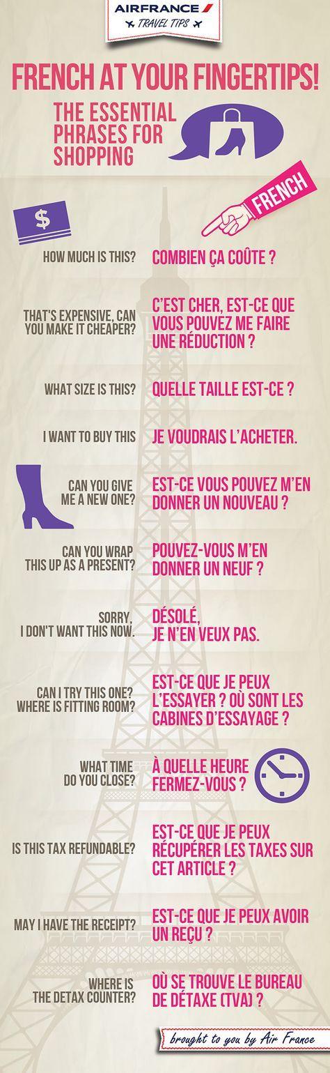 French phrases for shopping Survival French // Voilà quelques mots et phrases pour faire les magasins :DDD