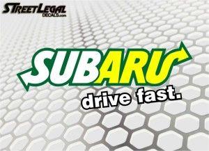 """SUBaru Drive Fast 9"""" Vinyl Sticker"""
