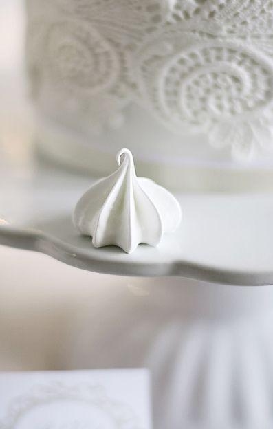 Pretty meringue shot