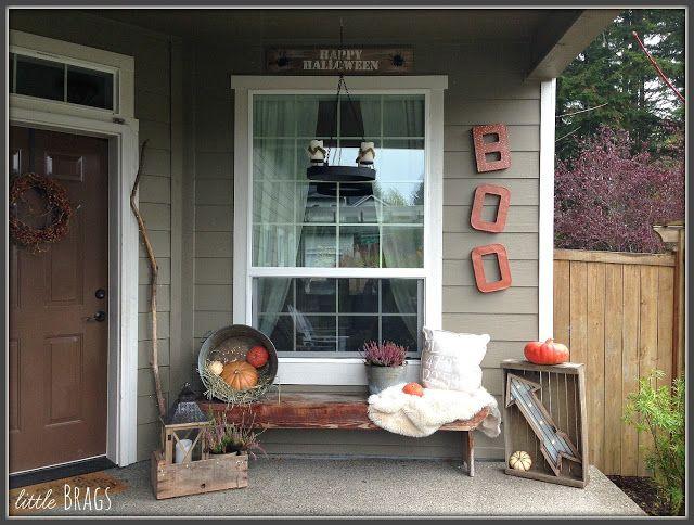 Little Brags: Halloween Front Porch
