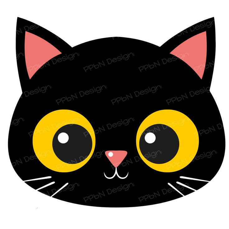 PPbN Designs - Black Cat Face (SVG Only), $0.00 (http://www.ppbndesigns.com/products/black-cat-face-svg-only.html)