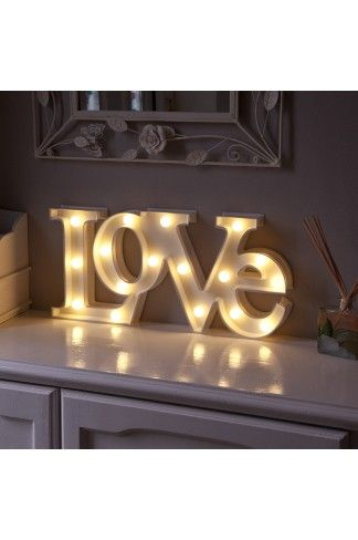 New cheap light up marquee signs in love require batteries and are perfect  for wedding decor, gifts and home wear, shop the whole range at festive  lights