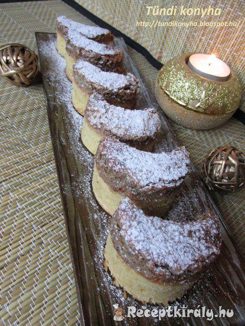 Diós holdas sütemény recept képpel. Elkészítés és hozzávalók leírása, 45 perces, 6 főre, Egyszerű, Vegetáriánus