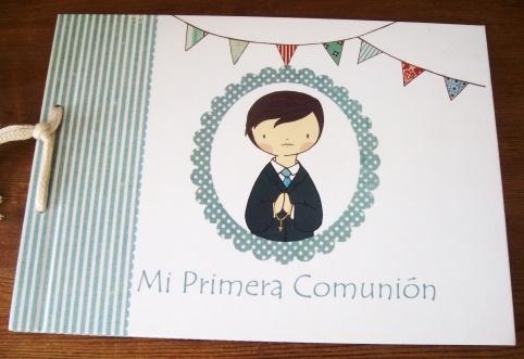 LIBRO RECUERDO DE LA PRIMERA COMUNIÓN PARA NIÑOS