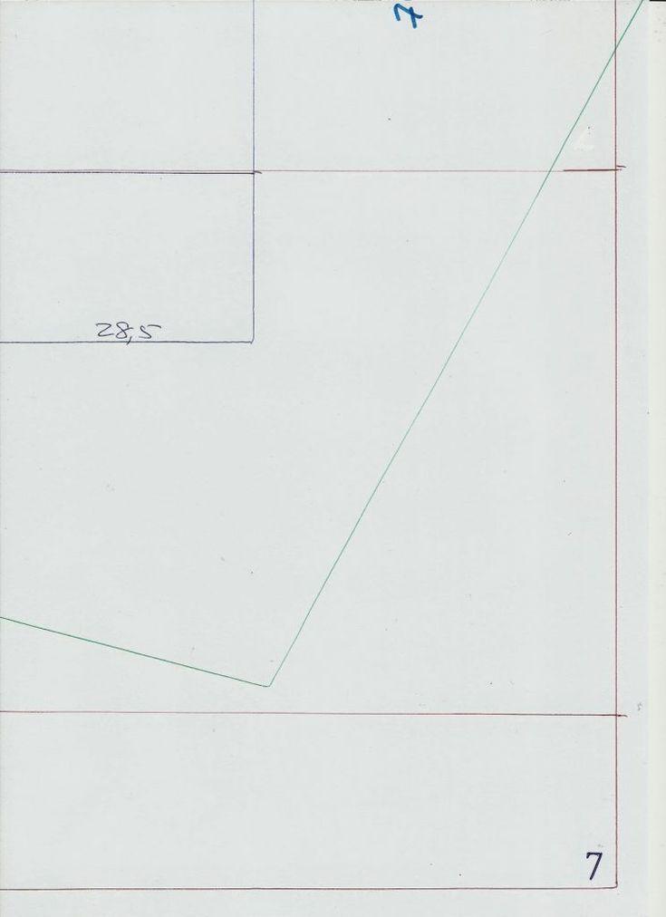 Molde de base CAMISA DE GRAN TAMAÑO 38 - Moldes Moda por la Medida