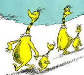 teaching children philosophy-      The Sneetches by Dr. Seuss is excellent for discussing issues of prejudice and discrimination with children. When the Star-Bellied Sneetches and the Plain-Bellied Sneetches treat one another disrespectfully because of simple stars on their bellies, one is forced to question the absurdity of such prejudice