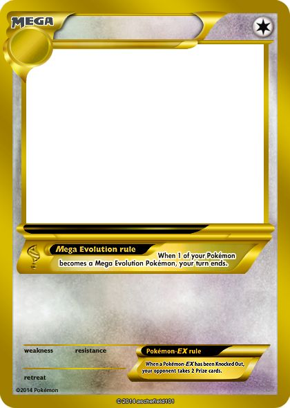 Blank Pokemon Card Mega - Invitation Templates