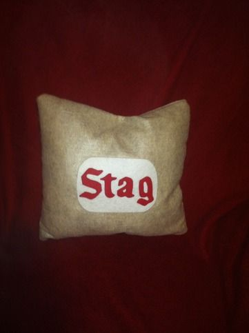 Stag Beer lovers pillow