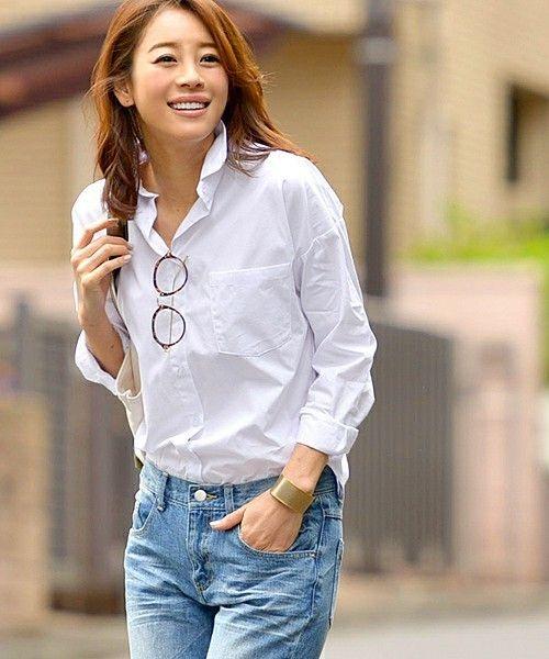 美人度アップ春夏のシーン別白シャツ着回しコーデ6選