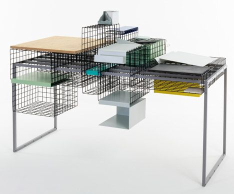 #exactly what you need http://www.dezeen.com/2014/06/23/ying-chang-rca-graduate-modular-grid-system-table-steel-mesh/ Grid System by Ying Chang