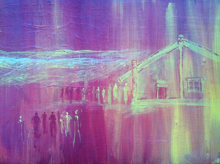 untitled . Tame Iti . oil on hardboard
