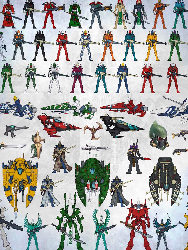 Various colour schemes of many different Craftworlds and ...