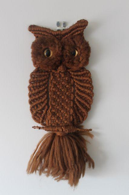 macrame owl wall hanging - Google Search