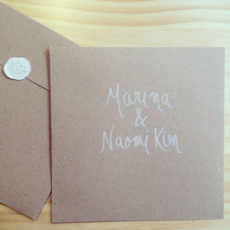 Wedding invitations envelopes by Ginger Blonde ®