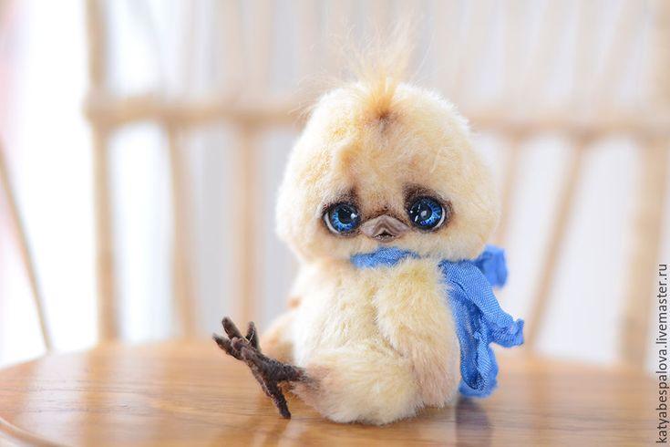 Купить Цыпленок - желтый, цыпленок, птичка, птица, игрушка, авторская игрушка, катя беспалова