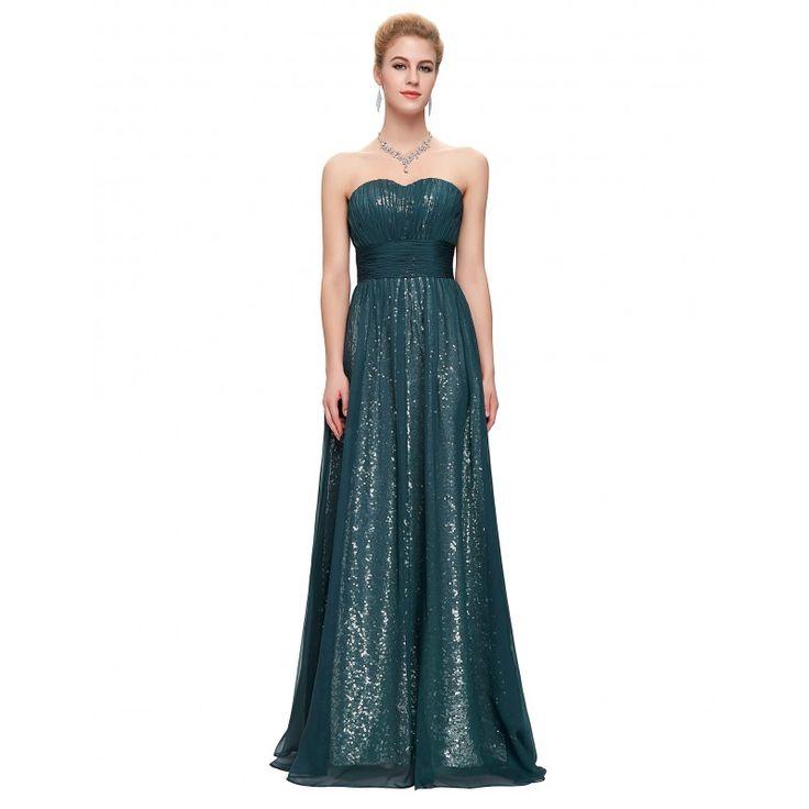 Zeleno spoločenské šaty CL6005
