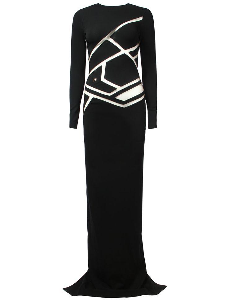 Платье с прозрачными вставками от Philipp Plein