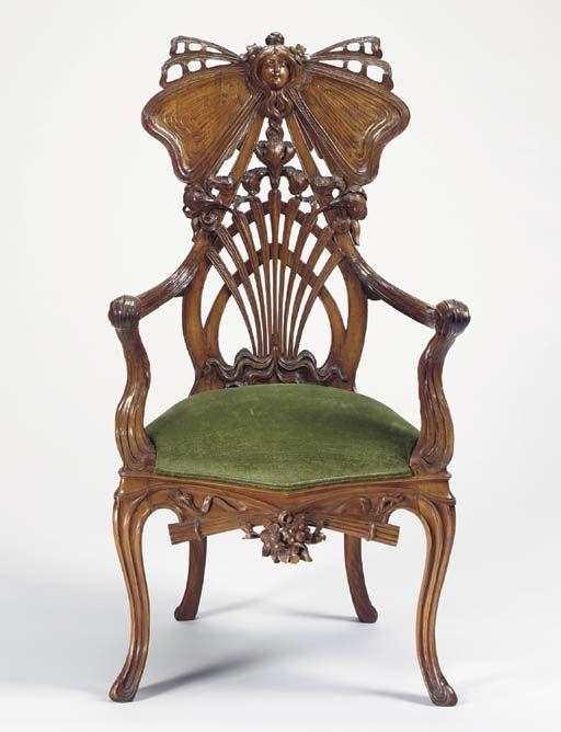 1905, silla de caoba