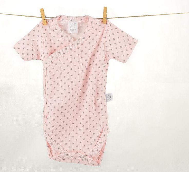 Regalos y canastillas para recién nacidos - Little Baby Born - Maletín Estrellas Rosas para niña recién nacida - Body