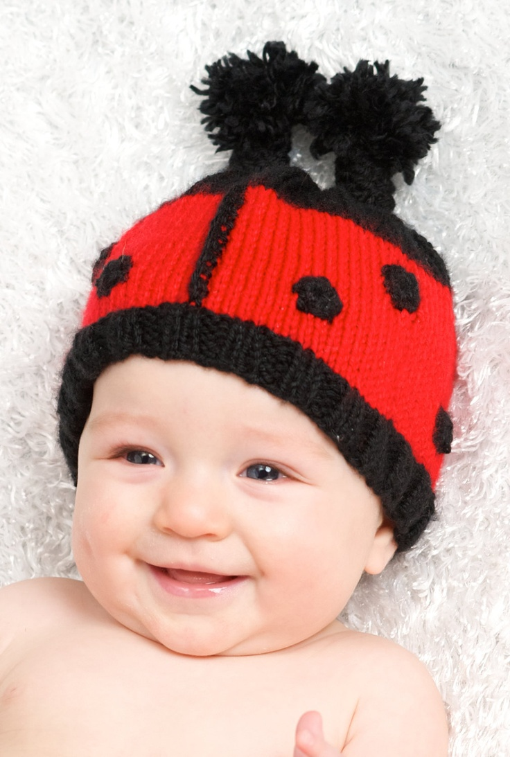 Knitting Ladybug Ladybird Headband : Best images about knitting for babies and kids on