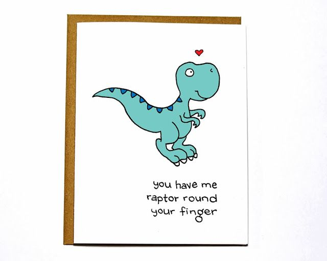 """""""you have me raptor around your finger"""" stamped card ..."""