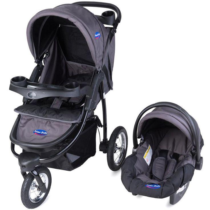 Carrinho Travel System Triciclo Velloz Prime Baby Cinza