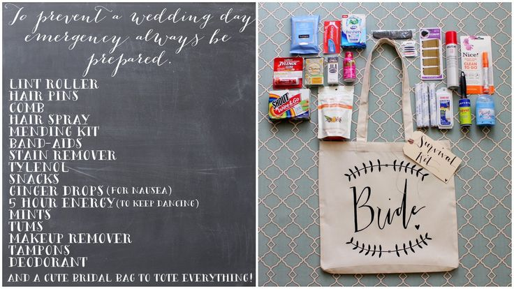 DIY Wedding Day Survival Kit by dreamstateinspiration #DIY #Wedding #Survival_Kit