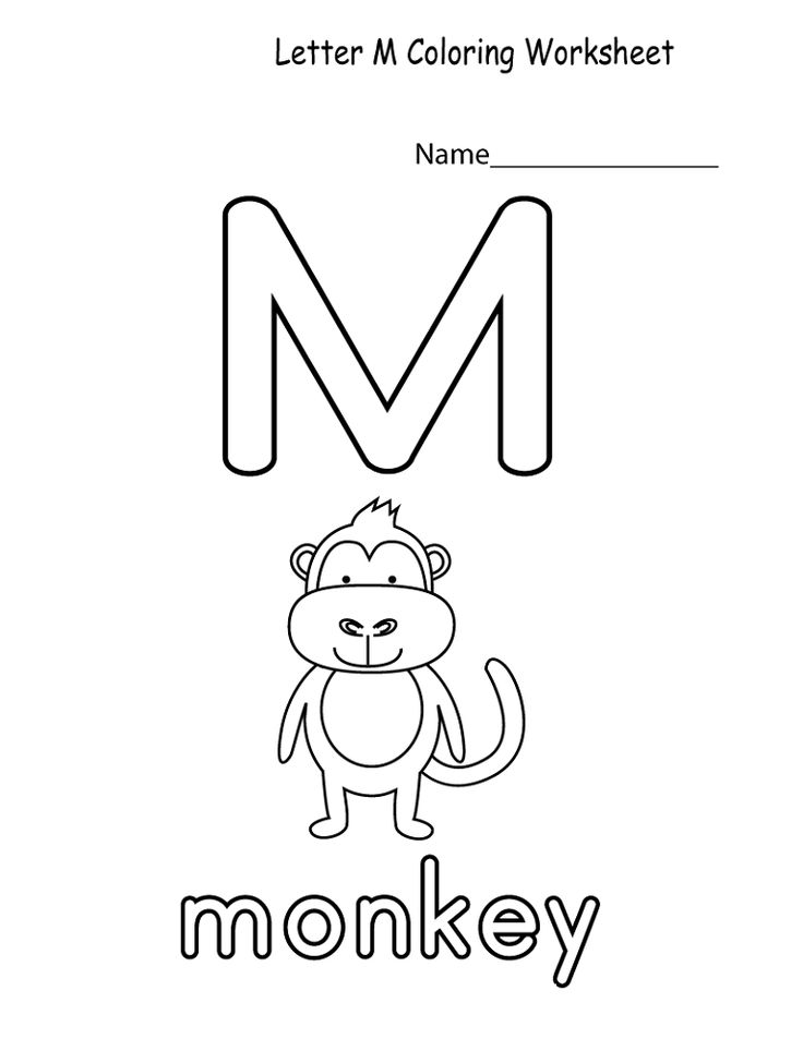Toddler Learning Activities Printable Free Letter M