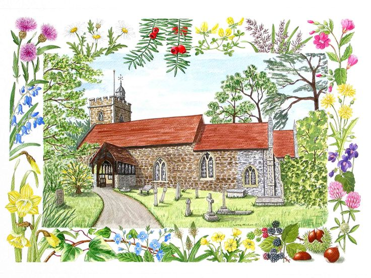 All Saints Binfield Berkshire by Lorna Minton
