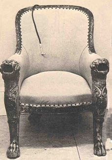 Deafness in Disguise -- Concealed Hearing Devices of the 19th Century [Image is of an acoustic throne created by F. C. Rein for King John VI of Portugal (also called King Goa VI ). King John VI used the throne from about 1819 until his death in 1826, while ruling from Brazil.]