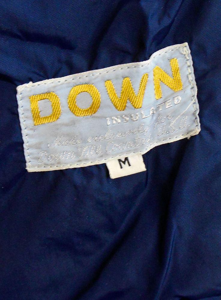 Vintage 60s 70s SKI Coat Reversible Puffer Down Fill Country Neon Retro Jacket M   eBay