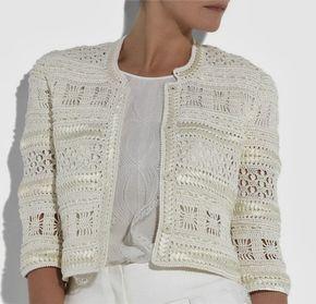 The Inspriation - Oscar de la Renta Crochet Cardigan (2010)