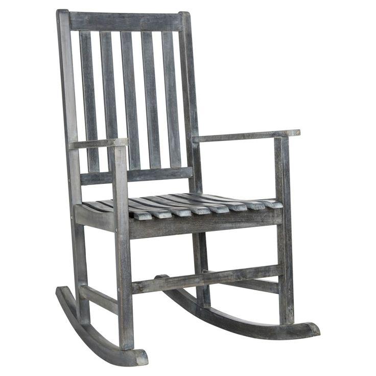 barstow rocking chair ash grey safavieh outdoor rocking chairs rocker