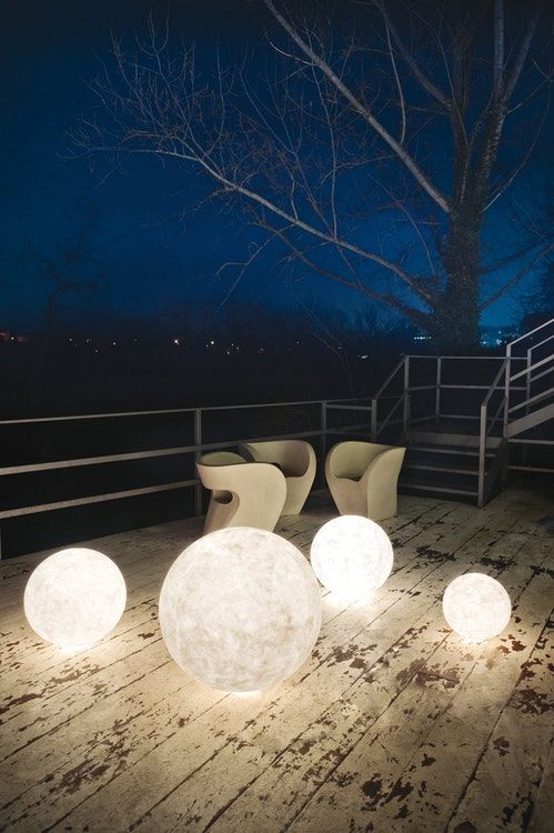 Ex. Moon Outdoor Floor Lamp Medium Diameter 70cm —
