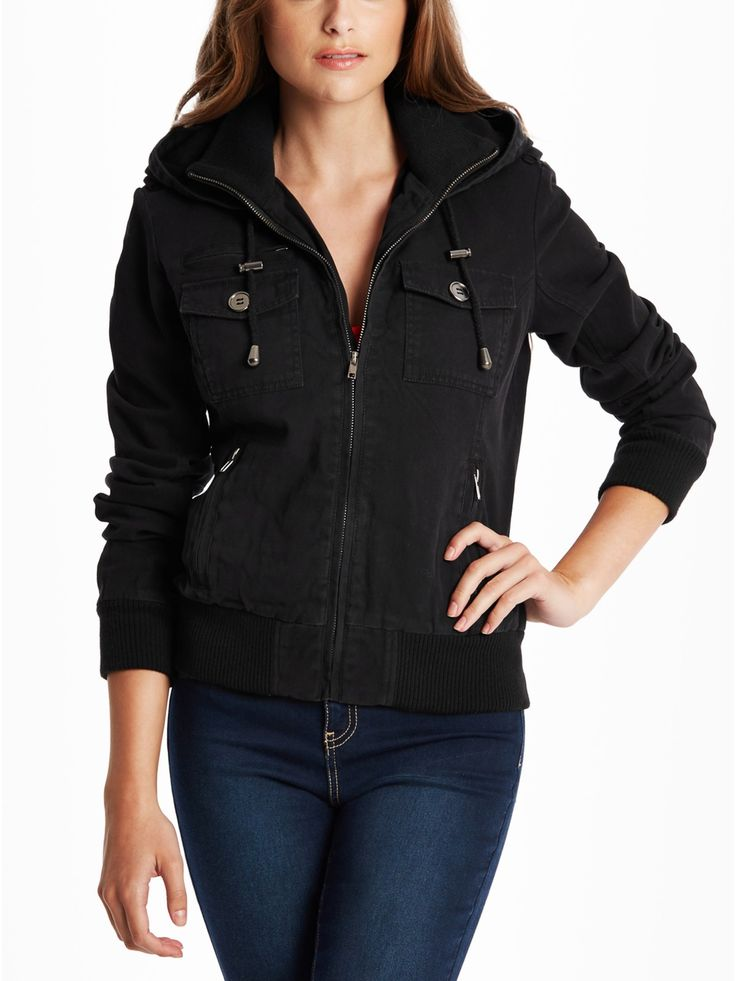 Rayna Hooded Bomber Jacket
