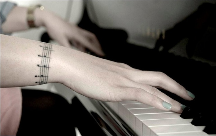 No music. No life.  Soundtrack of the film 'ONCE', chorus of the song 'falling slowly' written and performed by Glen Hansard and Markéta Irglová. Love it  #tattoo #music
