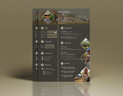 """Check out new work on my @Behance portfolio: """"Resume - Tour Guide"""" http://be.net/gallery/35082675/Resume-Tour-Guide"""