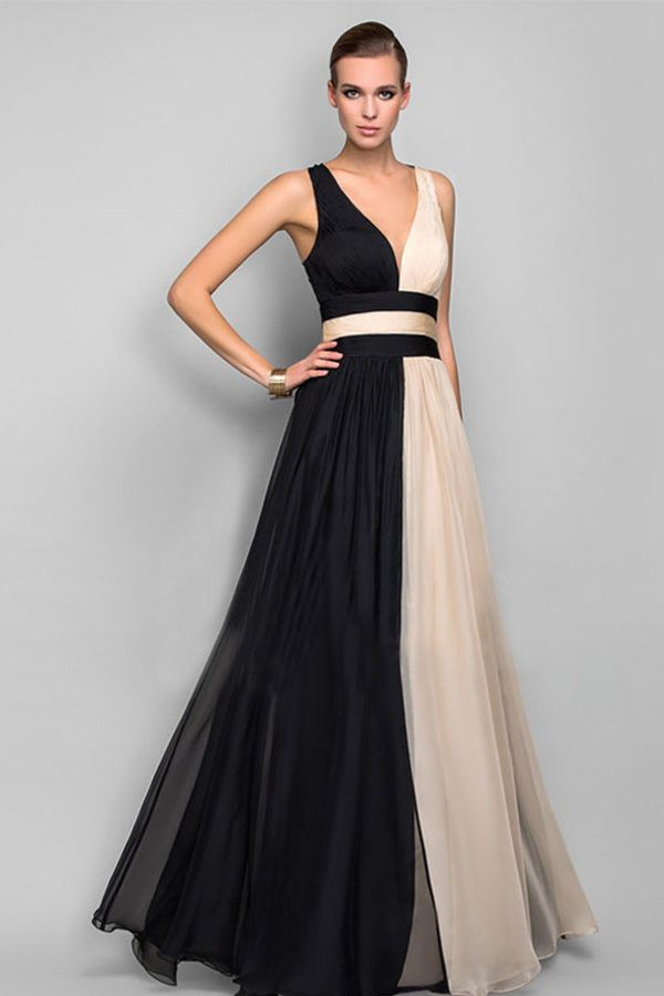 Hualong Elegant Black And White Evening Party Gowns