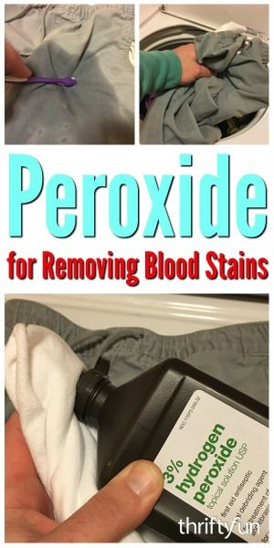 Peroxide is perfect for removing blood stains on clothing and other fabric items. This is a guide about peroxide for removing blood stains.