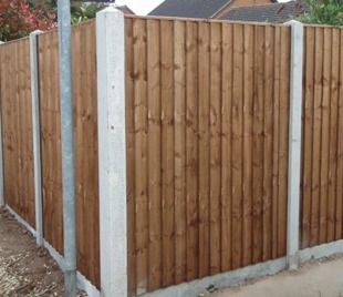 Slotted Concrete Fence Post - Corner